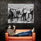 The Beatles Vintage Bw Music Huge 47x35 Print Poster