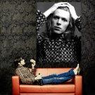 David Bowie Portrait Rock Music Singer BW Huge 47x35 Print Poster