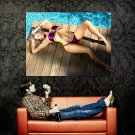 Devin Justine Sexy Bikini Hot Model Huge 47x35 Print Poster