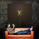 Louis Vuitton Leather Logo Brand Huge 47x35 Print Poster