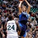 Dirk Nowitzki Fadeaway Jumper NBA 32x24 Print POSTER