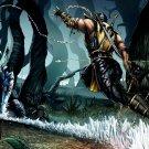 Mortal Kombat Scorpion Vs Sub Zero Art 32x24 Print POSTER