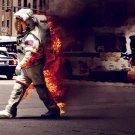 Astronaut Fire Street Traffic Heat 32x24 Print POSTER