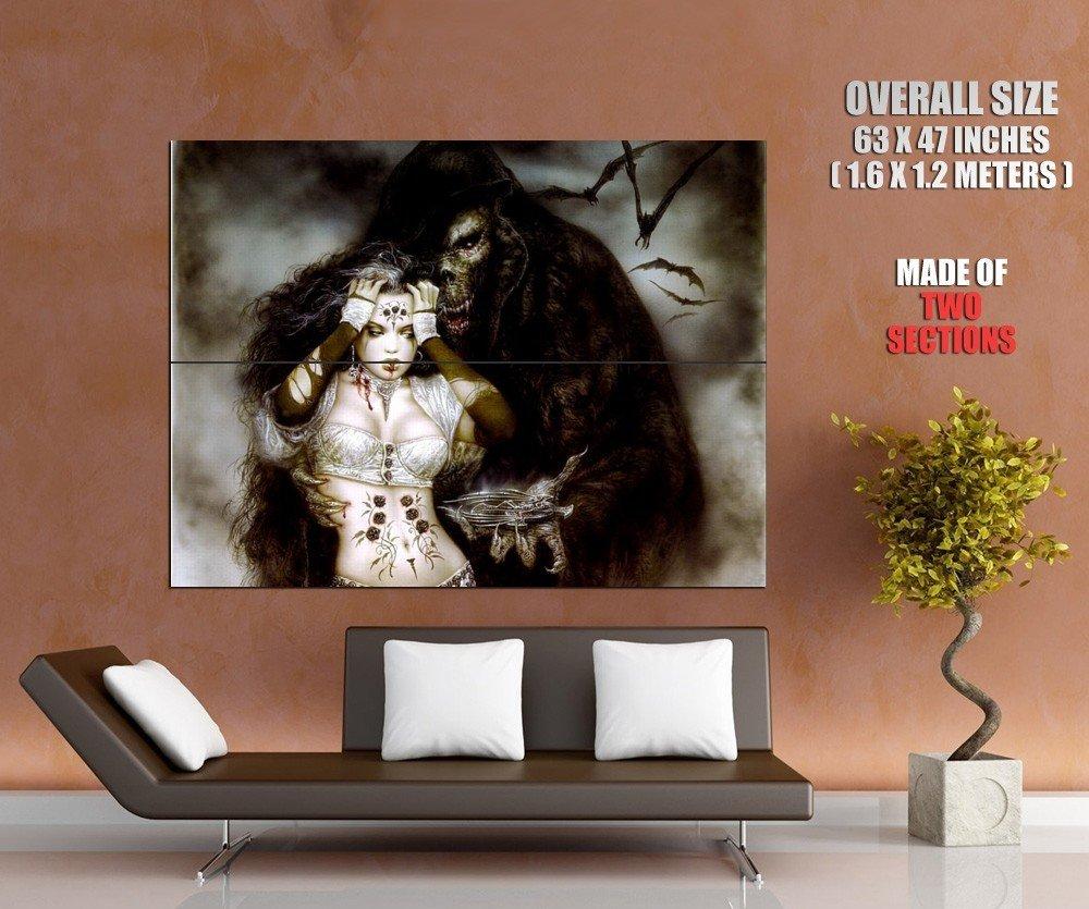 Luis Royo Hot Girl Monster Gift Dark Fantasy Art Huge Giant Print Poster