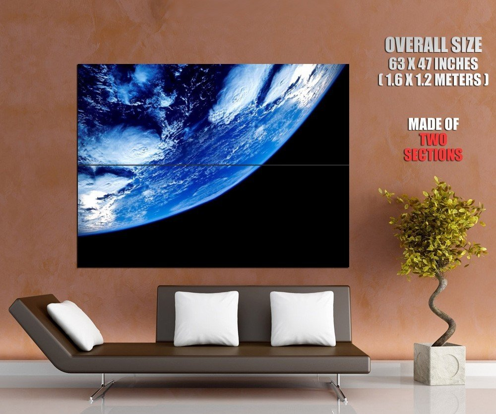 Planet Earth Cyclones Clouds Space Huge Giant Print Poster