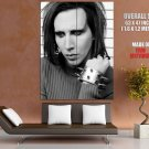 Marilyn Manson Music Bw Portrat Huge Giant Print Poster