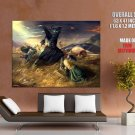 The Lord Of The Rings Eowyn Nazgul Art HUGE GIANT Print Poster