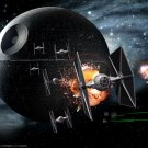 Death Star Tie Fighters Star Wars 16x12 Print Poster
