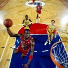 Michael Jordan Dunk Vs Lakers NBA 16x12 Print POSTER