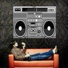 Old School Boombox Hip Hop Retro Art Huge 47x35 Print POSTER
