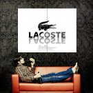 Lacoste Green Crocodile Cool Brand Logo Huge 47x35 Print Poster