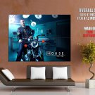 House M D Motorbike Hugh Laurie Tv Series Cool Huge Giant Poster