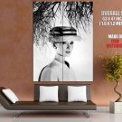 Audrey Hepburn Actress Movie Bw Huge Giant Print Poster