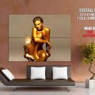 Charlize Theron Golden Skin Hot Naked Body Actress Huge Giant Print Poster