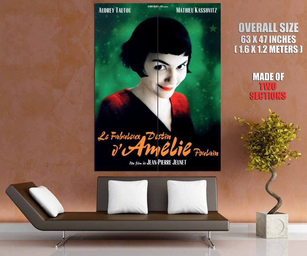 Amelie Audrey Tautou Original Movie Huge Giant Print Poster