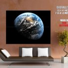 Home Planet Earth Stars Space Huge Giant Print Poster