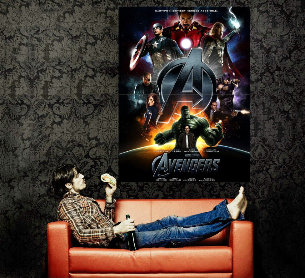 Avengers Characters 2012 Marvel Movie Huge 47x35 Print POSTER