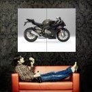 BMW S1000RR Black Sport Bike Motorcycle Huge 47x35 Print POSTER