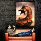 Dune Frank Herbert Giant Worm Muad Dib Art Huge 47x35 Print POSTER