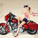 Marisa Miller Hot Sexy Harley Davidson Art 32x24 Print Poster
