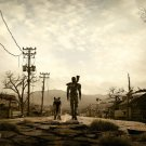 A Man With A Dog Fallout 3 Game 16x12 Print Poster