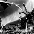 Godzilla Vs King Ghidorah BW Sci Fi Monsters Art 24x18 Print POSTER