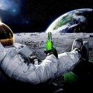 Astronaut Moon Cool Carlsberg Advertising 24x18 Print Poster