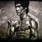 Bruce Lee Drawing Martial Arts 24x18 Print Poster