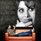 Sophia Loren Portrait Hot BW Photo Art Huge 47x35 Print Poster