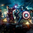 The Avengers Movie Characters Marvel 32x24 Print POSTER