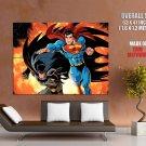 Superman Batman Dc Comic Art Huge Giant Print Poster