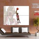 Michael Jordan Drawing Dunk Nba Huge Giant Print Poster