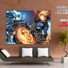 Ghost Rider Skeletons Fight Marvel Comics Art Huge Giant Print Poster