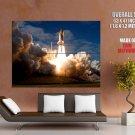 Space Shuttle Atlantis Launch Huge Giant Print Poster