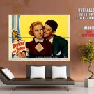 Ronald Reagan Bedtime For Bonzo Legendary Actor Diana Lynn Huge Giant Poster