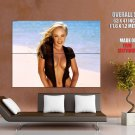 Busty Blonde Hottie Big Sexy Boobs Huge Giant Print Poster