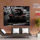 Audi R8 Black Car Bw Rear Huge Giant Print Poster