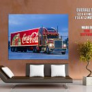 Coca Cola Christmas Trailer Truck HUGE GIANT Print Poster