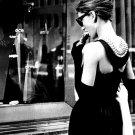 Audrey Hepburn Breakfast At Tiffany S BW 32x24 Print POSTER