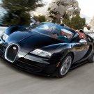 Bugatti Veyron Roadster Black Car 32x24 Print Poster