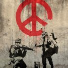 Peace Troopers Banksy Graffiti Street Art 24x18 Print POSTER