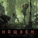 Hawken War Is A Machine Mech Art Video Game 16x12 Print Poster