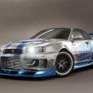 Nissan Skyline GTR Tuned Car 24x18 Print POSTER