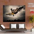 Motocross Bike Jump Huge Giant Print Poster