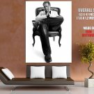 Armin Van Buuren Bw Chair Dj Music Huge Giant Print Poster
