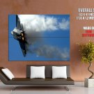 Lockheed Martin F 22 Raptor Military Aicraft Huge Giant Print Poster