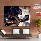 Predator Skull City Skyscraper Sci Fi Art Huge Giant Print Poster