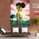 African American Woman Painting Art Vintage HUGE GIANT Print Poster