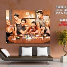 Friends Characters Poker TV Series HUGE GIANT Print Poster