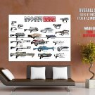 Mass Effect Weapons Game Art Huge Giant Print Poster